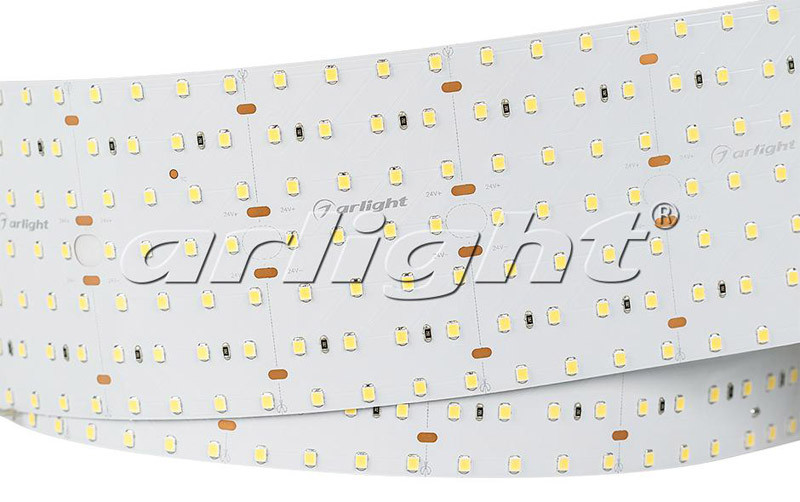 Фото Arlight Лента S2-2500 24V Warm 3000K 85mm (2835, 560 LED/m, LUX). Купить с доставкой