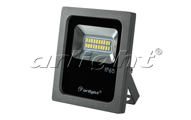 Arlight Светодиодный прожектор AR-FLG-FLAT-10W-220V White прожектор 020596 arlight уличные прожектора