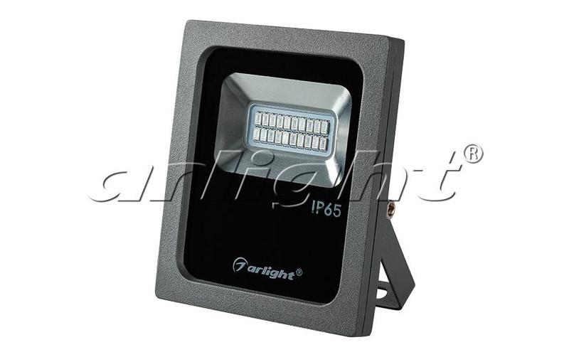 Фото Arlight Светодиодный прожектор AR-FLG-FLAT-10W-220V Red. Купить с доставкой