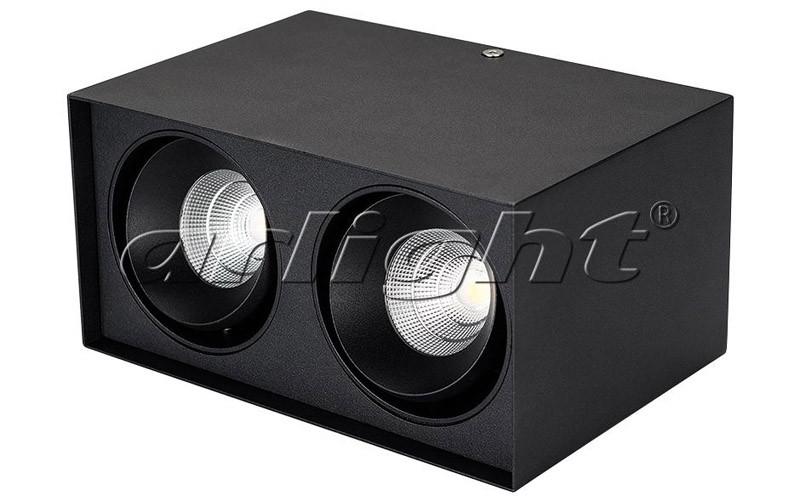 Arlight Светильник SP-CUBUS-S100x200BK-2x11W Warm White 40deg globo cubus 5692 1h