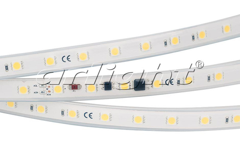 Arlight Лента ARL-10000PGS-220V White 6000K 13mm (5060, 54 LED/m, M-F Link) фотобарабан opc cactus cs opc hp1010 5 для hp lj 1010 1012 1015 1022 1020 q2612a canon 703 fx 10