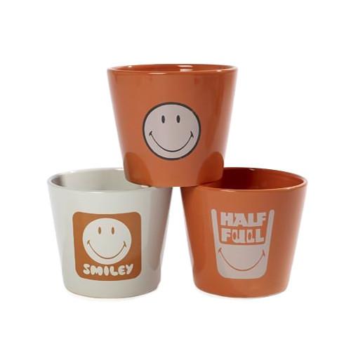 Urbanika кашпо SMILEY, сет 3 шт. urbanika стакан utility сет 2 шт подарочная упаковка