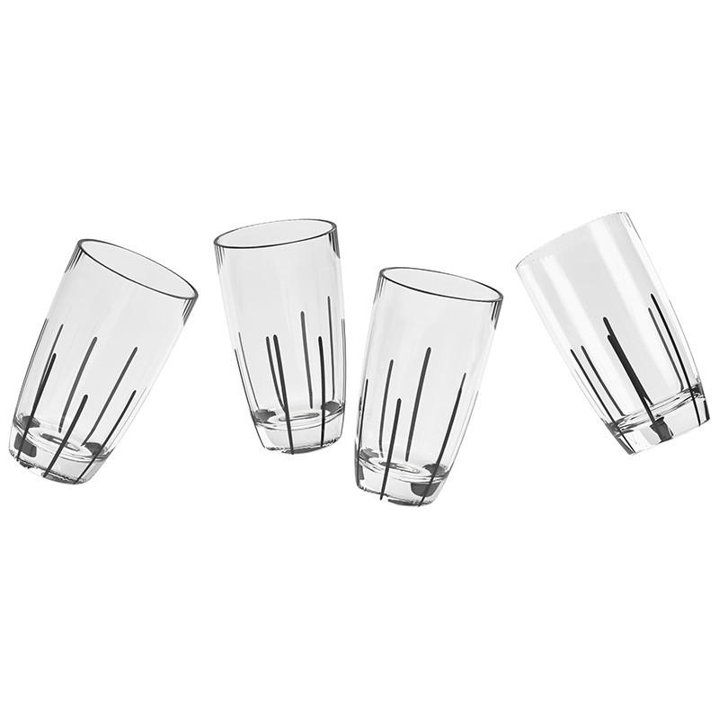 Urbanika бокал для воды MIKADO, сет 4 шт, подарочная упаковка urbanika стакан utility сет 2 шт подарочная упаковка