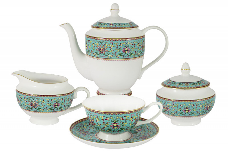 Anna Lafarg Stechcol Чайный сервиз из 15 предметов на 6 персон Восточный дворец босоножки studio w klingel цвет золотистый
