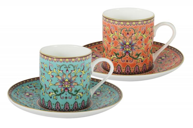 Anna Lafarg Stechcol Набор для кофе: 2 чашки + 2 блюдца Восточный дворец в подарочной упаковке наборы для чаепития stechcol чайный набор на 2 перс викторианская леди stechcol