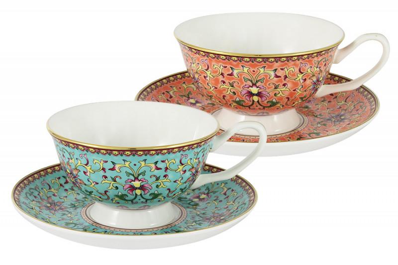 Anna Lafarg Stechcol Набор: 2 чашки + 2 блюдца Восточный дворец в подарочной упаковке наборы для чаепития stechcol чайный набор на 2 перс викторианская леди stechcol