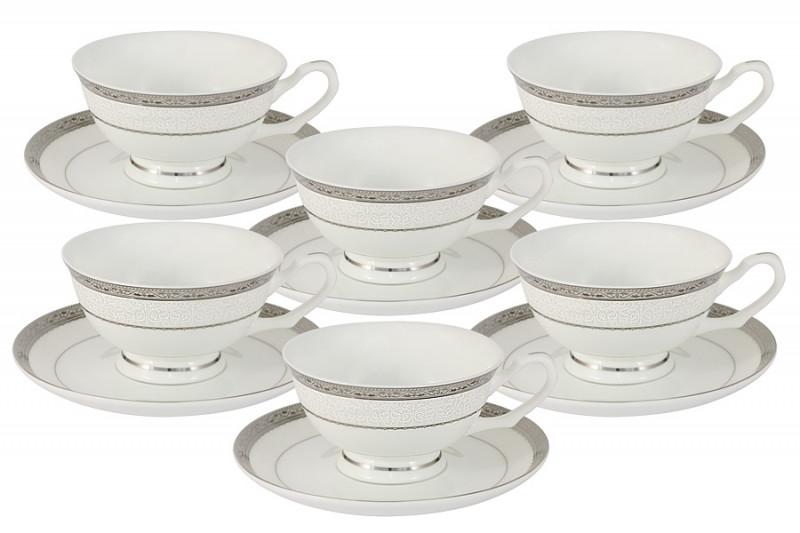 Anna Lafarg Emily Набор 12 предметов Бостон : 6 чашек + 6 блюдец тарелка anna lafarg йорк 21см десертная фарфор