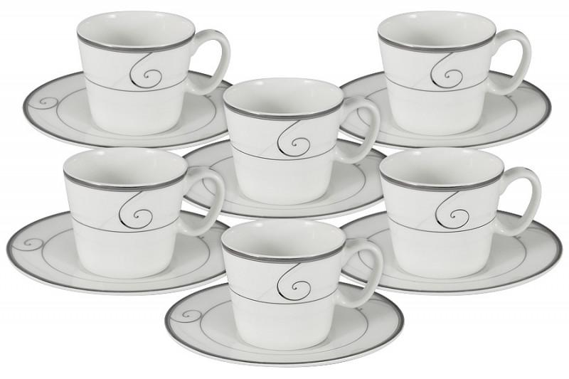 Фото Anna Lafarg Emily Набор 12 предметов для кофе Волна: 6 чашек + 6 блюдец. Купить с доставкой