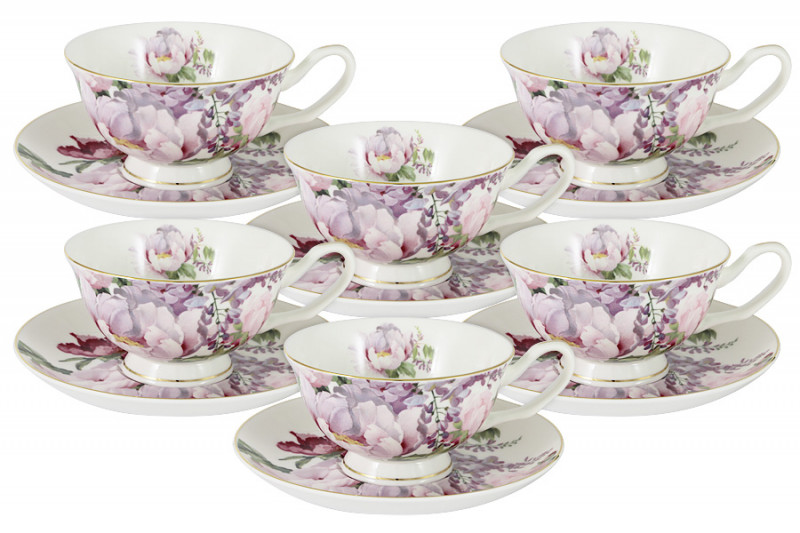 Anna Lafarg Stechcol Набор: 6 чашек + 6 блюдец Райский сад в подарочной упаковке наборы для чаепития stechcol чайный набор на 2 перс викторианская леди stechcol