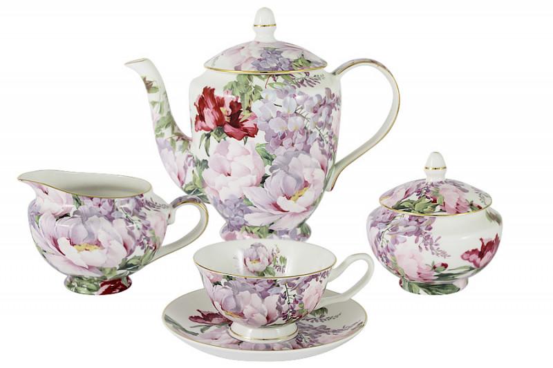 Anna Lafarg Stechcol Чайный сервиз из 15 предметов на 6 персон Райский сад в подарочной упаковке адам райский изниоткуда вникуда часть 1 поручик