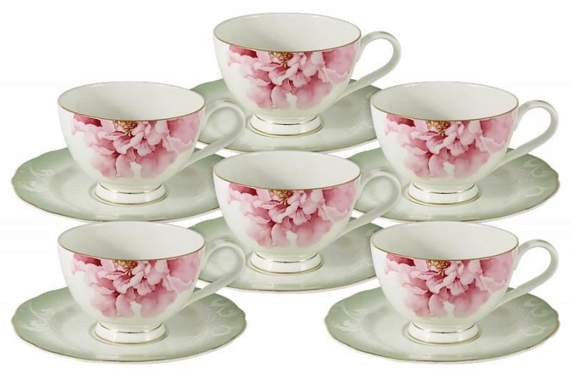 Anna Lafarg Emily Набор 12 предметов Заря: 6 чашек + 6 блюдец тарелка anna lafarg йорк 21см десертная фарфор