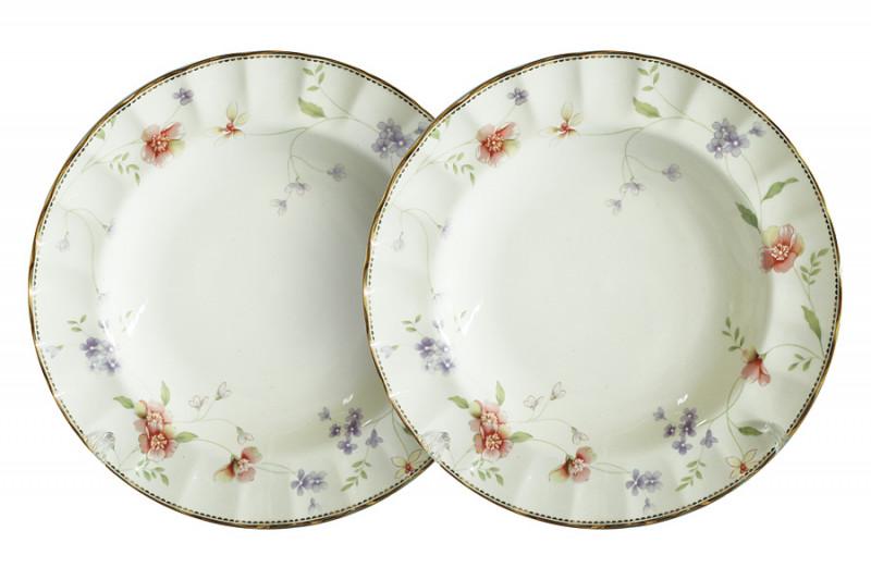 Colombo Набор из 2-х суповых тарелок Флёр colombo набор обеденных тарелок бьянка 2шт