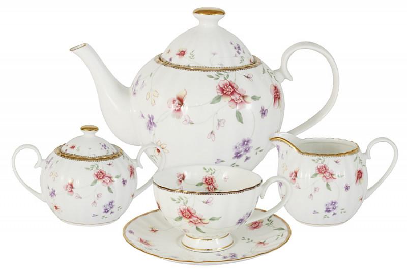 Colombo Чайный сервиз из 15 предметов на 6 персон Флёр сервиз чайный loraine на подставке 13 предметов 43285