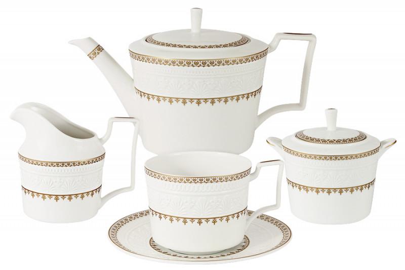 Colombo Чайный сервиз из 15 предметов на 6 персон Золотой замок colombo чайный сервиз из 15 предметов на 6 персон флёр c2 ts 15 3701al