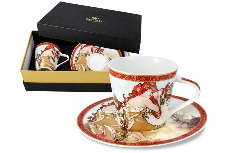 Carmani Чашка с блюдцем Лето (А. Муха) в подарочной упаковке чашка кружка carmani чашка с блюдцем осень а муха car2 539 5003