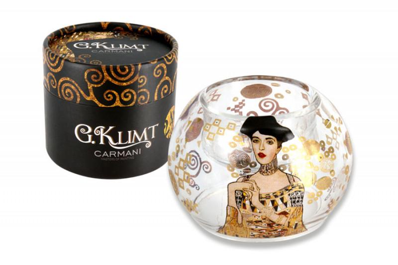Фото Carmani Подсвечник в форме шара, малый, Адель (Г.Климт). Купить с доставкой