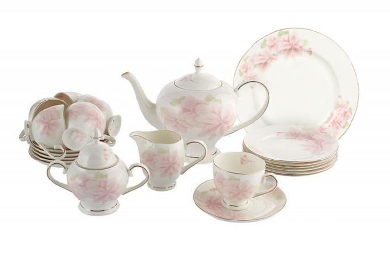 Emerald Чайный сервиз Розовые цветы 40 предметов на 12 персон emerald