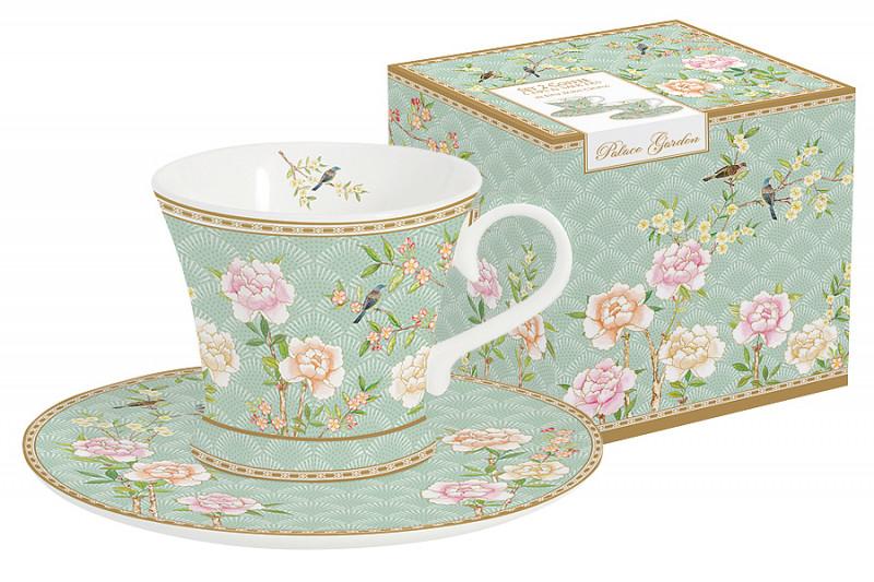 Easy Life (R2S) Набор: 2 чашки + 2 блюдца для кофе Дворцовый парк (салатовый) в подарочной упак. kid s box level 2 pupil s book