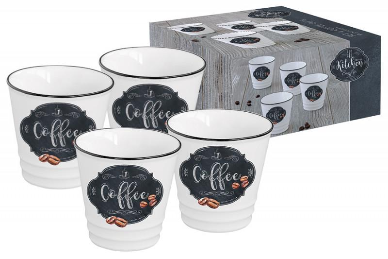 Easy Life (R2S) Набор из 4-х чашек для кофе Кухня в стиле Ретро в подарочной упаковке kid s box level 2 pupil s book