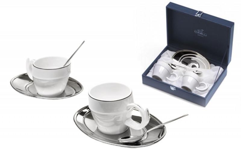 все цены на Гамма Чайный набор на 2 персоны Ричоло (серебро) онлайн
