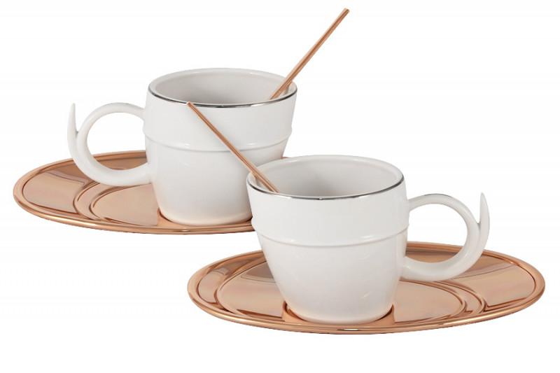 все цены на Гамма Чайный набор на 2 персоны Ричоло с отделкой под розовое золото онлайн