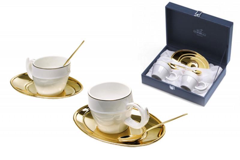 все цены на Гамма Чайный набор на 2 персоны Ричоло (золото) онлайн