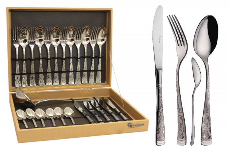 Giorinox Набор столовых приборов из 25 предметов  Dubai Argento giorinox