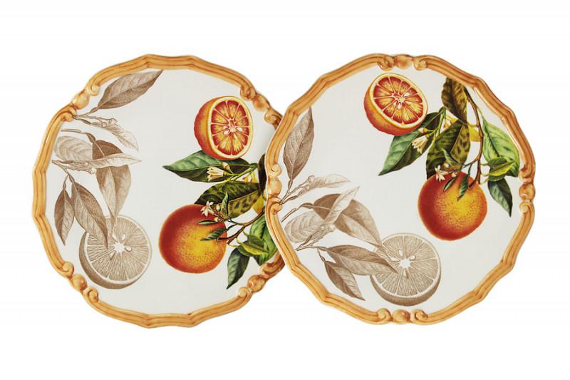 LCS Набор из 2-х десертных тарелок Апельсины