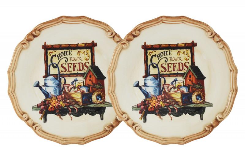 LCS Набор из 2-х десертных тарелок Садовые цветы садовые столы