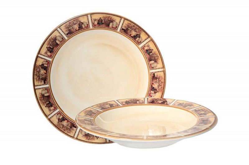 LCS Набор тарелок:суповая и обеденная Натюрморт