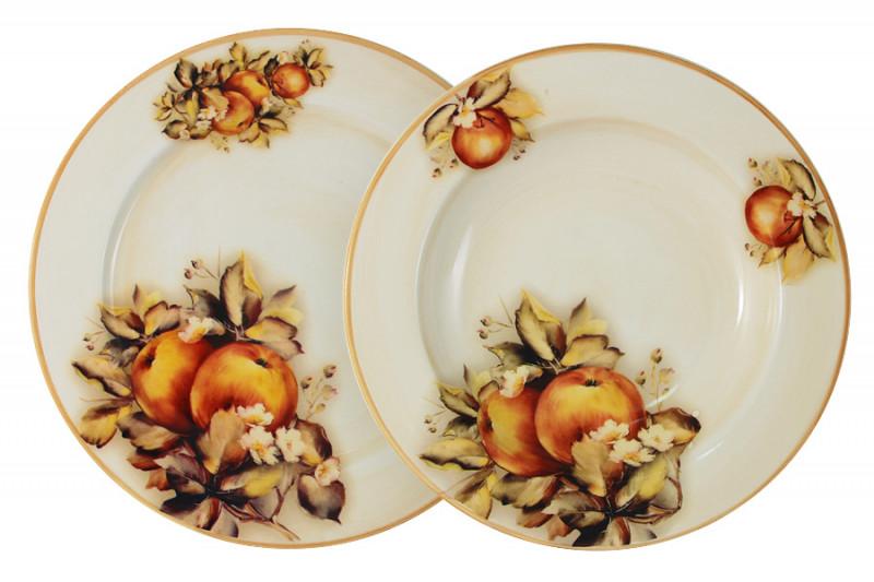 LCS Набор тарелок: суповая + обеденная Зимние яблоки чашка суповая с блюдцем 500мл яблоки 943535