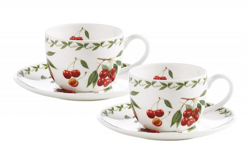Maxwell & Williams Набор: 2 чашки + 2 блюдца Вишня в подарочной упаковке williams rob sw rbln v 2