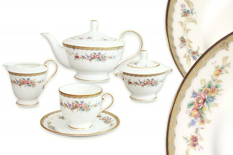 Narumi Чайный сервиз 17 предметов на 6 персон Наслаждение jk 179 чайный сервиз на 6 перс арабески arabesca yellow pavone 1250309
