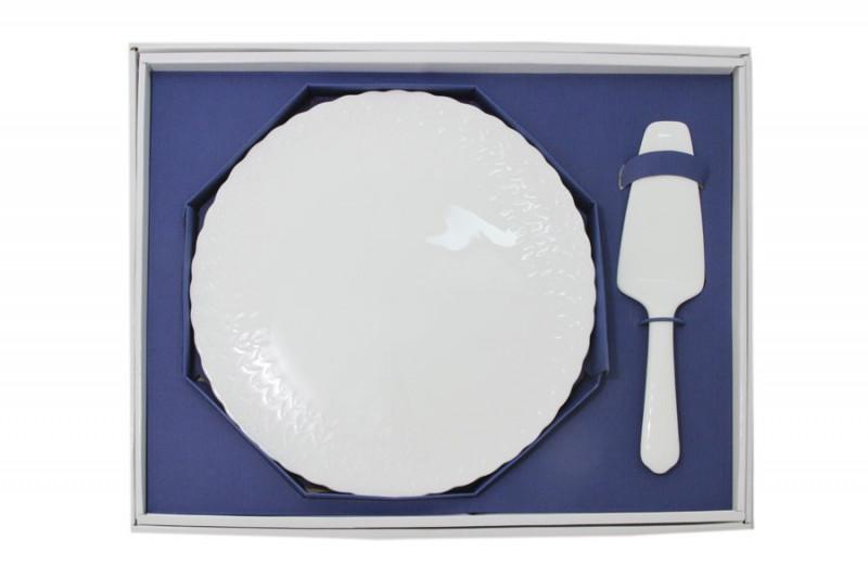 Narumi Набор для торта: блюдо + лопатка Шёлк лопатка для торта нерж сталь 1248918