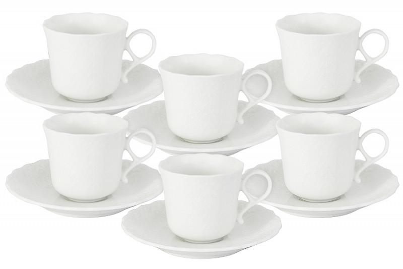 Narumi Набор: 6 чашек + 6 блюдец для кофе Шёлк narumi