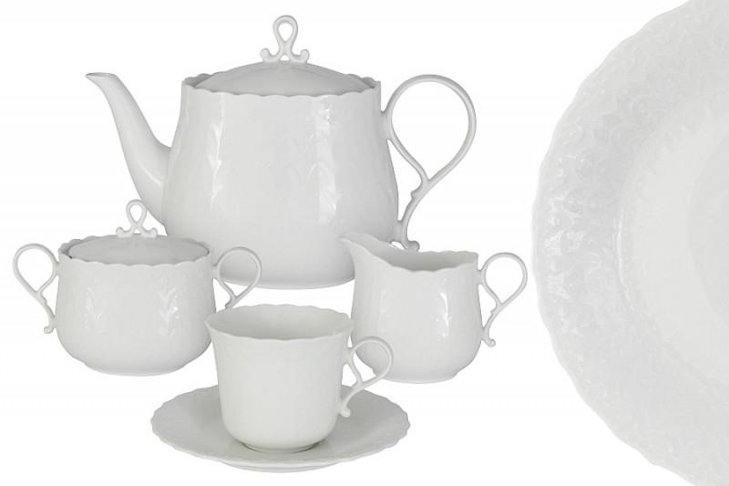 Narumi Чайный сервиз 17 предметов на 6 пресон Шёлк сервиз чайный 17 предметов royal porcelain co сервиз чайный 17 предметов