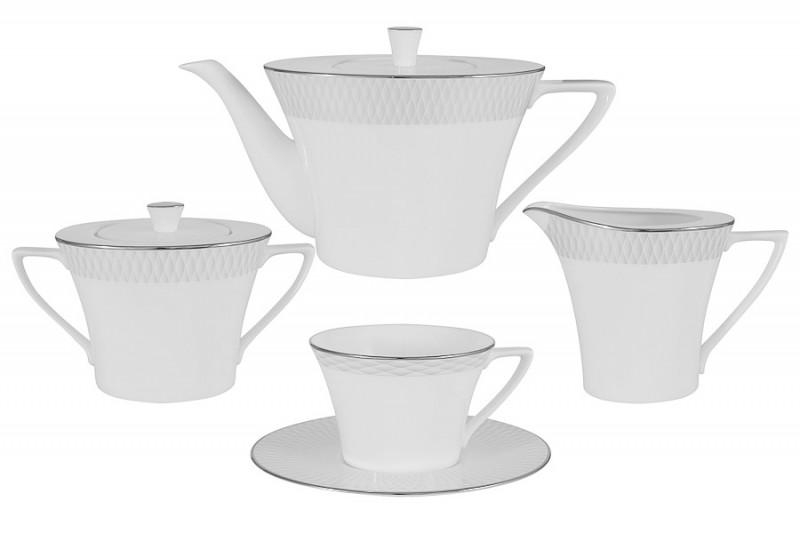 Narumi Чайный сервиз из 17 предметов на 6 персон Бриз narumi чайный сервиз из 15 предметов на 6 персон белый город