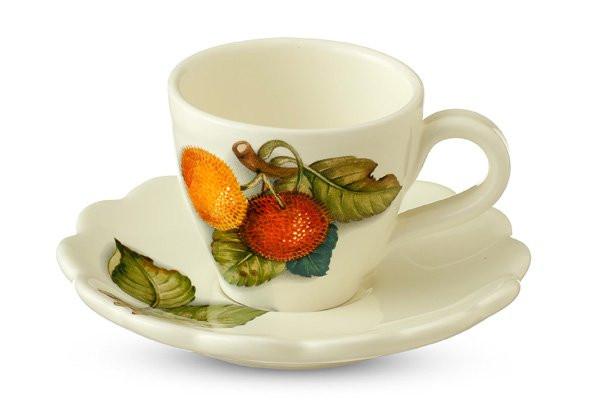 Nuova Cer Чашка с блюдцем Итальянские фрукты nuova cer сливочник итальянские фрукты