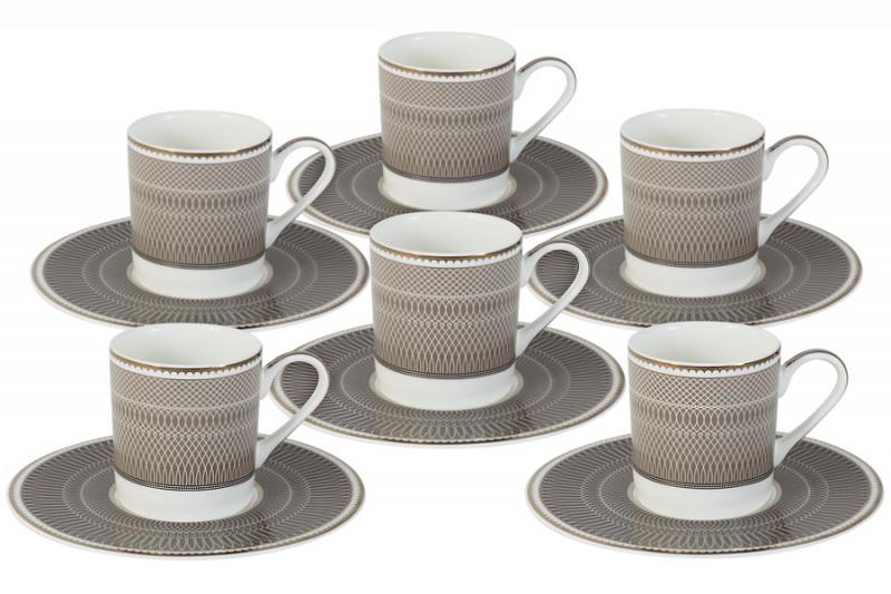 Naomi Кофейный набор Мокко: 6 чашек + 6 блюдец emerald bay кофейный бронзатор мокко со сливками choco latta love 15 мл