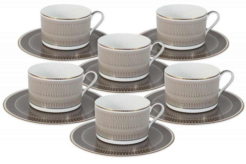 Naomi Чайный набор Мокко: 6 чашек + 6 блюдец naomi pearl