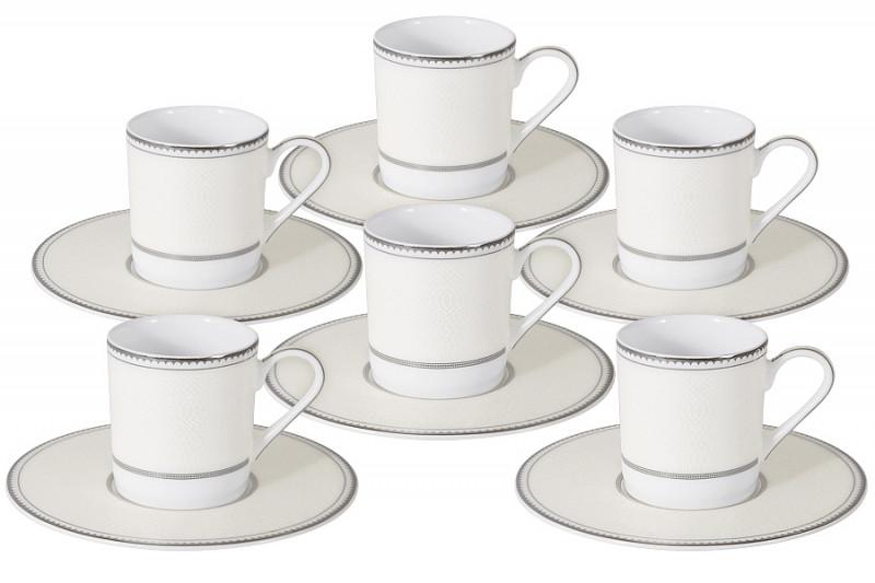 Naomi Кофейный набор Жемчуг: 6 чашек + 6 блюдец naomi pearl