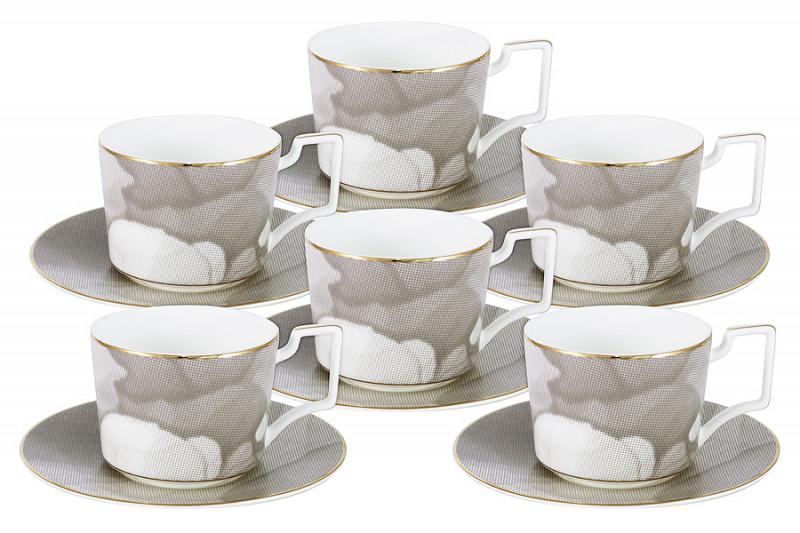 Naomi Чайный набор Лунная соната: 6 чашек + 6 блюдец flora express лунная соната