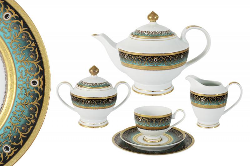 Shibata Чайный сервиз 23 предмета на 6 персон Принц (бирюза) shibata