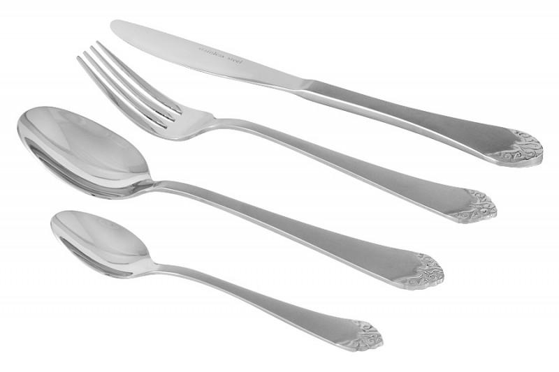 Selecta Набор столовых приборов 24 предмета Лейпциг серебро, в подарочной упаковке selecta набор столовых приборов 24 предмета лейпциг