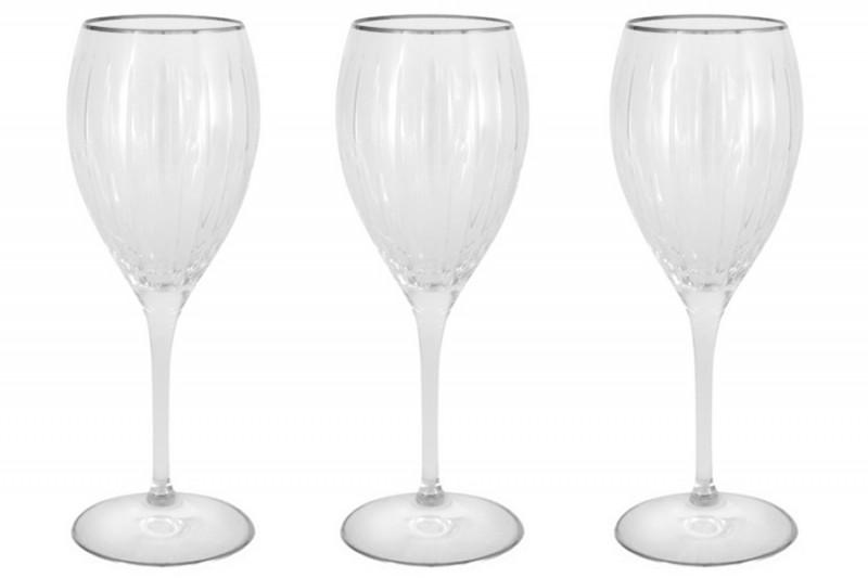 Same Набор: 6 хрустальных бокалов для вина Пиза серебро набор бокалов crystalex ангела оптика отводка зол 6шт 400мл бренди стекло