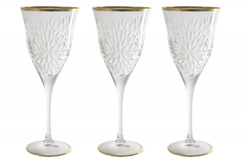 Same Набор: 6 хрустальных бокалов для вина Умбрия - золото набор бокалов crystalex ангела оптика отводка зол 6шт 400мл бренди стекло
