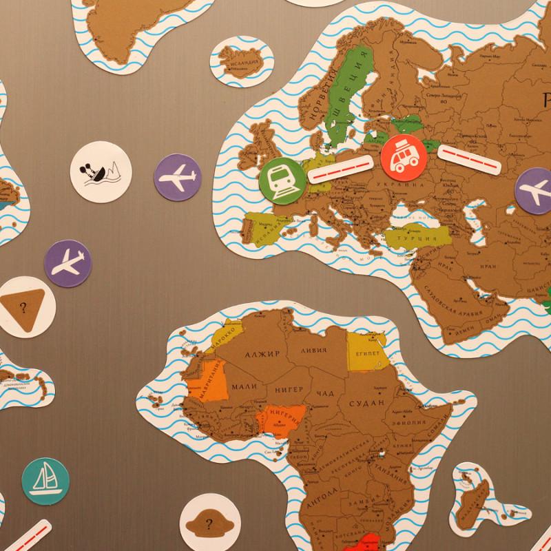 BadLab Карта true map puzzle (gold)