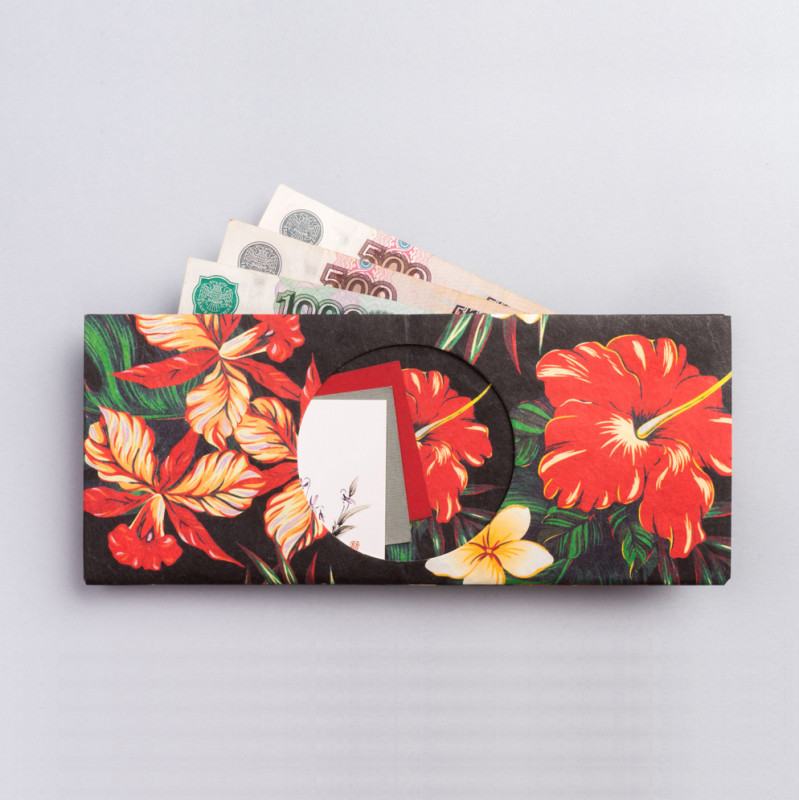 New wallet Бумажник tropicflowers бумажник нательный acecamp security waist wallet