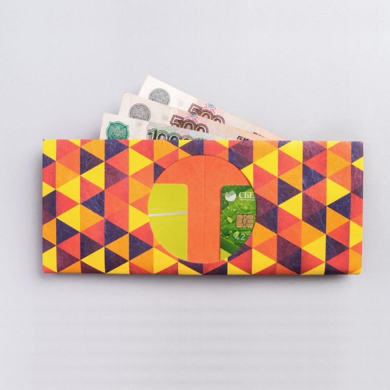 New wallet Бумажник triangle