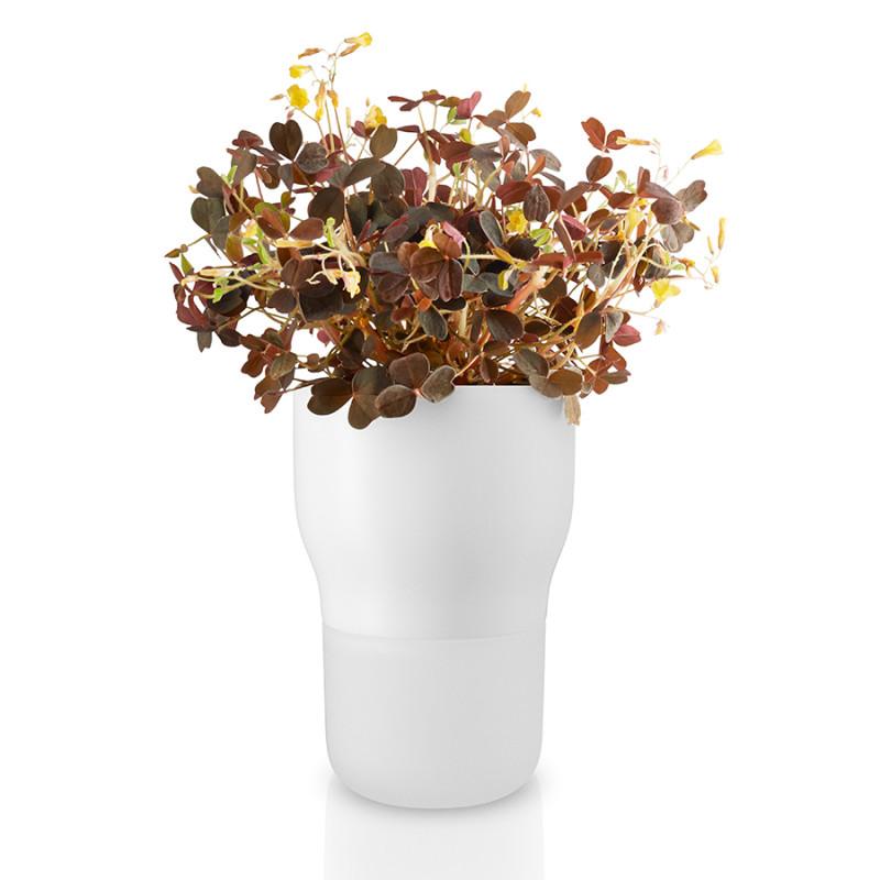 Eva Solo Горшок для растений с функцией самополива d9 см белый сады придонья сок яблочный прямого отжима осветленный 1 л